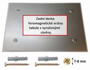 Allboards skleněná magnetická tabule - černá 60x40 cm - zadní deska