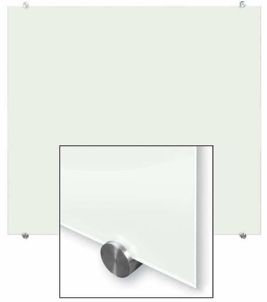 Allboards skleněná magnetická tabule - bílá 100x100 - montáž