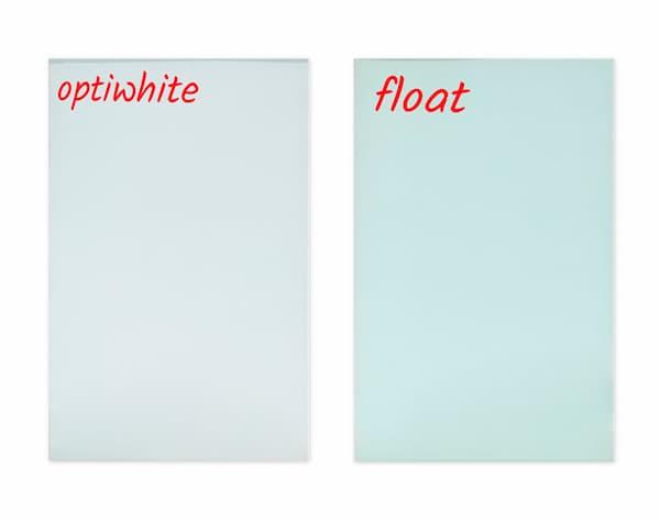 Rozdíl mezi skly standardní tabule a optiwhite premium